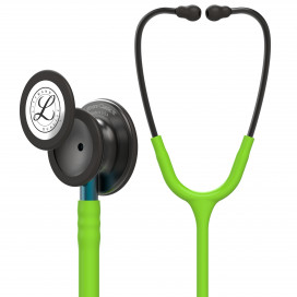 Littmann Classic III Stethoscope 5875, Smoke Chestpiece, Lime Green Tube, Blue Stem and Smoke Headset