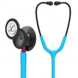 Littmann Classic III Stethoscope 5872, Smoke Chestpiece, Turquoise Tube, Pink Stem and Smoke Headset
