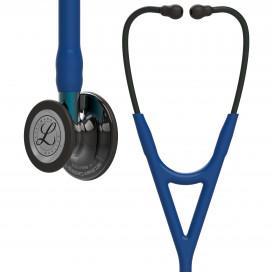 Стетоскоп Littmann Cardiology IV, темно-синяя трубка, дымчатая акустическая головка, черное оголовье, 6202