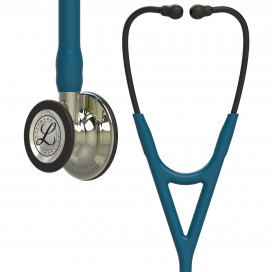 Littmann Stethoscope Cardiology IV 6190 Champagne-Finish Chestpiece Caribbean Blue Tube